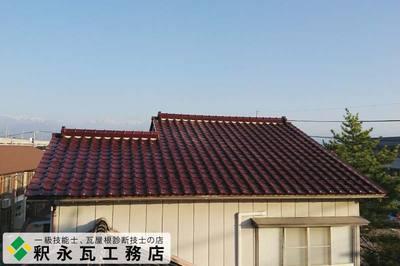 富山市瓦おろし替え工事 赤瓦、防災三州瓦2.jpg