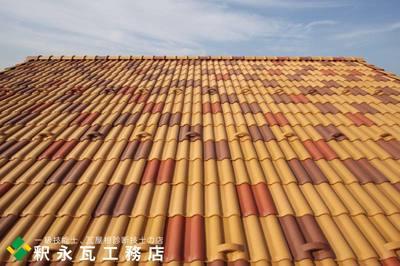 富山市 新築瓦屋根工事 洋瓦セラマウント混ぜ葺き.jpg