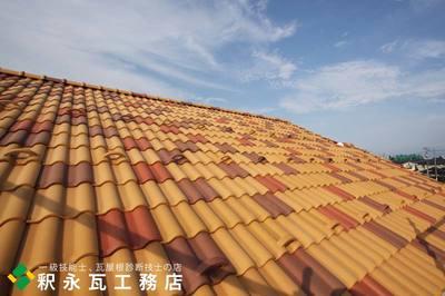 富山市 新築瓦屋根工事 洋瓦セラマウント混ぜ葺き4.jpg