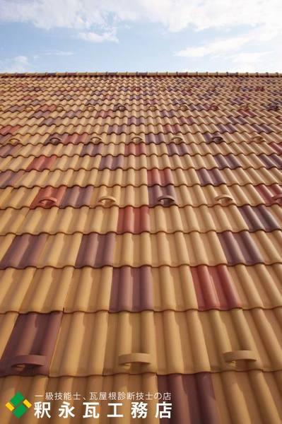 富山市 新築瓦屋根工事 洋瓦セラマウント混ぜ葺き7.jpg