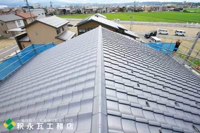 富山県瓦屋根工事-切妻新築-小松瓦9.jpg