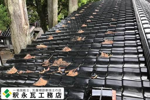 富山瓦 屋根掃除 雨漏り修理1.jpg