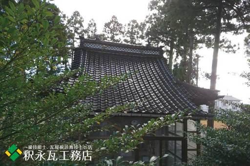 屋根のすんば、落ち葉掃除 立山町神社5.jpg