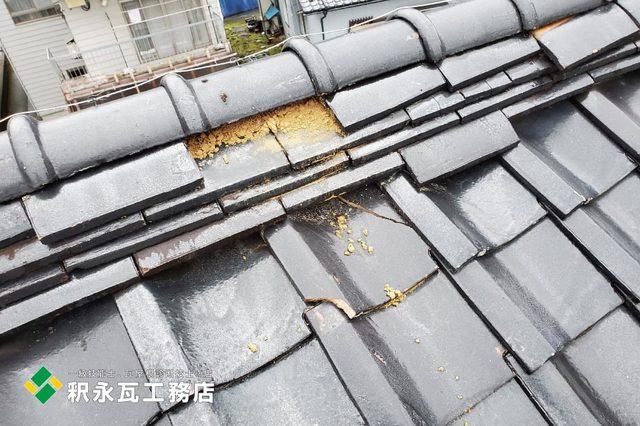 富山県立山町 雨漏り屋根瓦修理b.jpg
