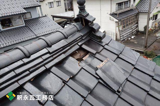 富山県立山町 雨漏り屋根瓦修理c.jpg