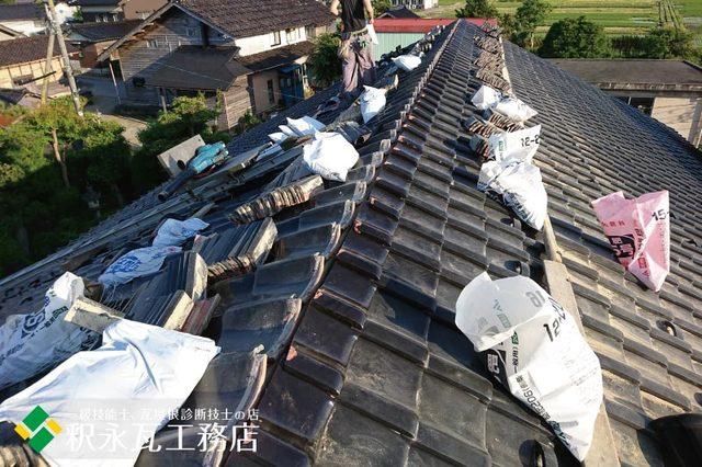 水橋雨漏り屋根 棟積み替え工事b.jpg