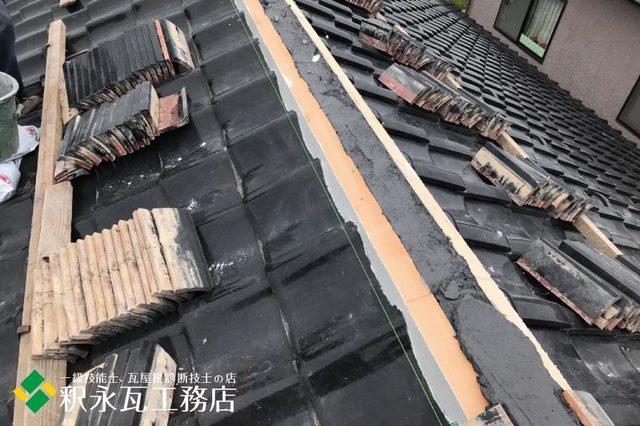 水橋雨漏り屋根 棟積み替え工事c.jpg