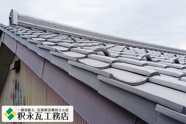 富山市食堂マルコr瓦降し替え中付き袖瓦.jpg