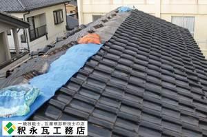 富山,屋根工事,49版,瓦しめなおし,瓦工事,銅しばり,黒瓦05.jpg