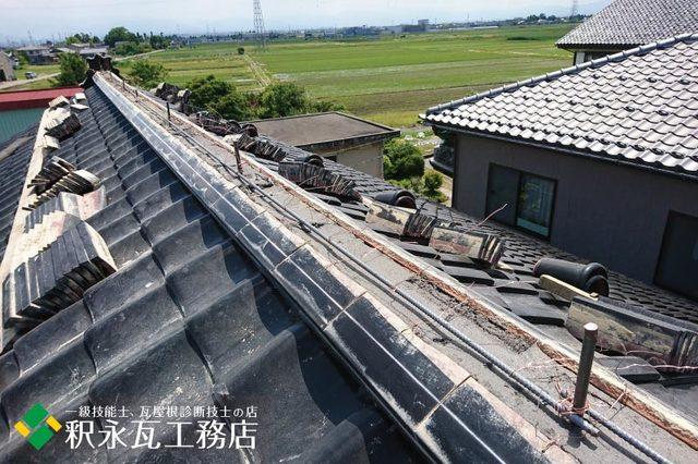 水橋雨漏り屋根 棟積み替え工事e.jpg