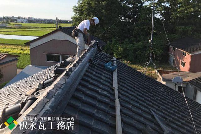 水橋雨漏り屋根 棟積み替え工事f.jpg