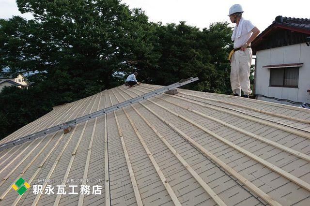 富山市屋根リフォーム工事、防水東和ルーフ張り.jpg